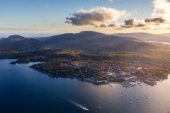 Bar Harbor from above, Maine